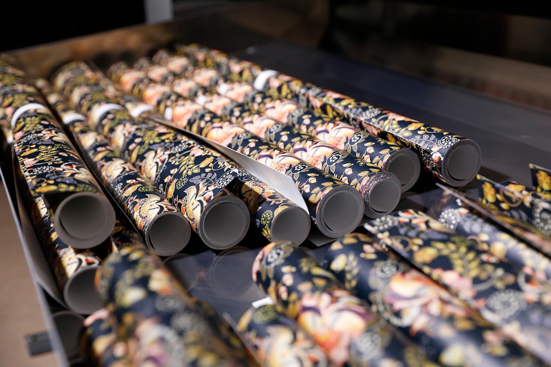 Canon präsentiert die neue UVgel-Wallpaper-Factory. Foto: Canon